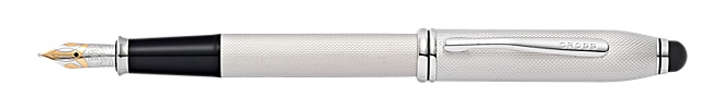 Townsend Brushed Platinum Plate Fountain Pen