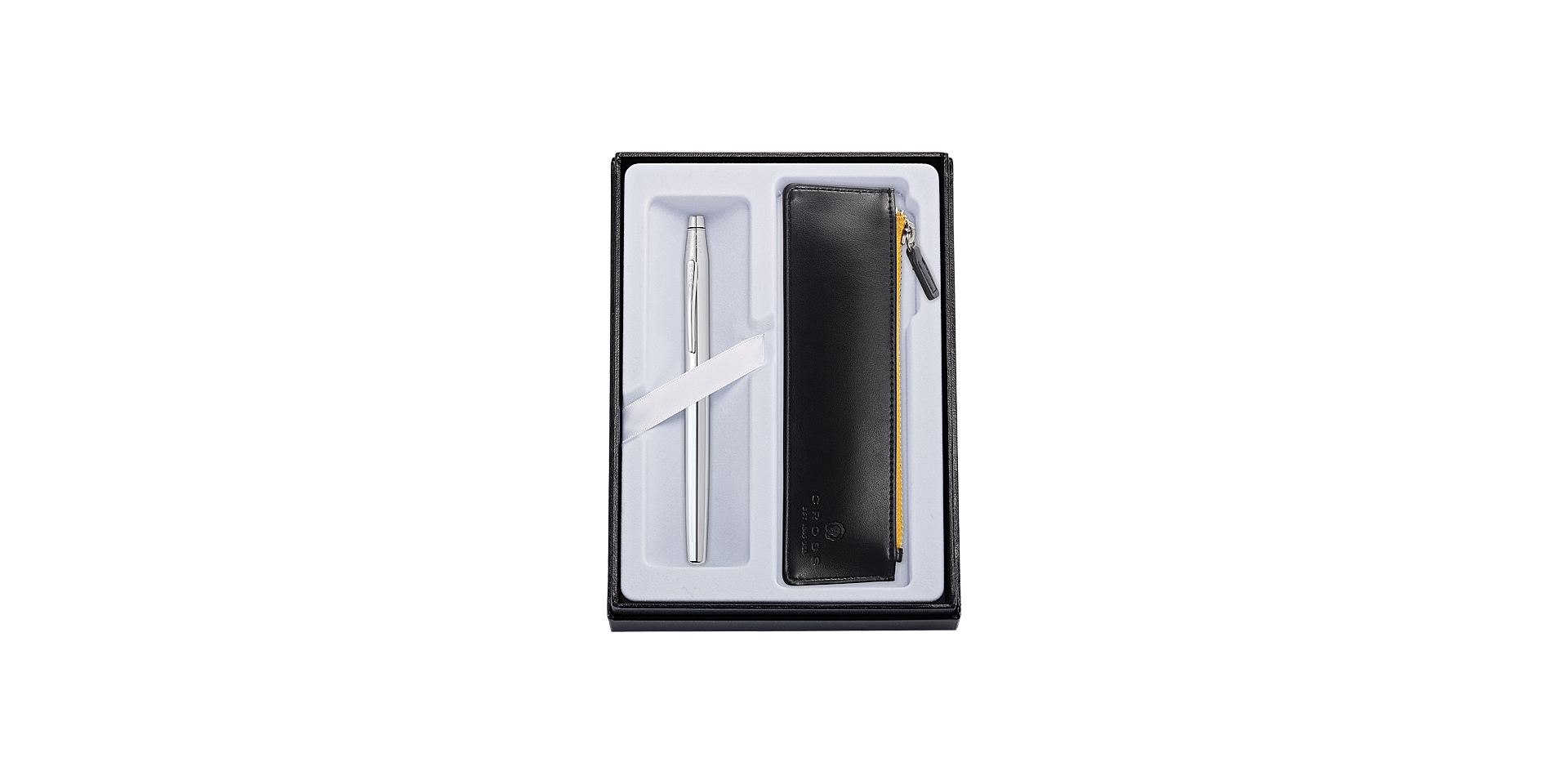 Classic Century Chrome Rollerball with Classic Black Pouch