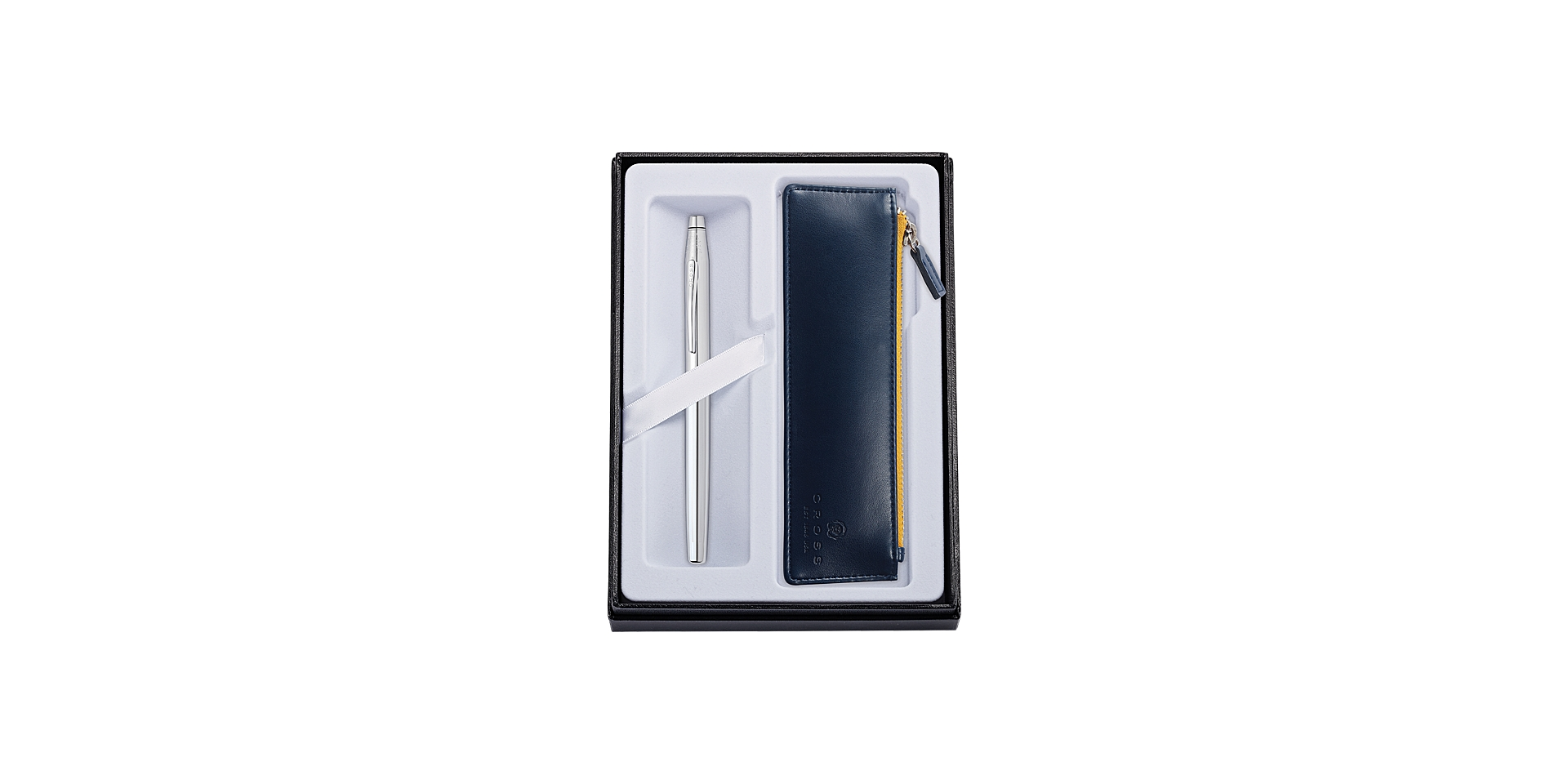Cross Classic Century Chrome Rollerball with Midnight Blue Pouch Picture