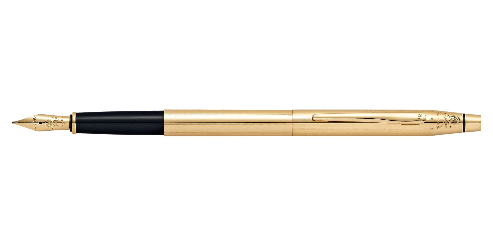 Cross 21st Century Limited-Edition 21 Karat Solid-Gold Fountain Pen Picture