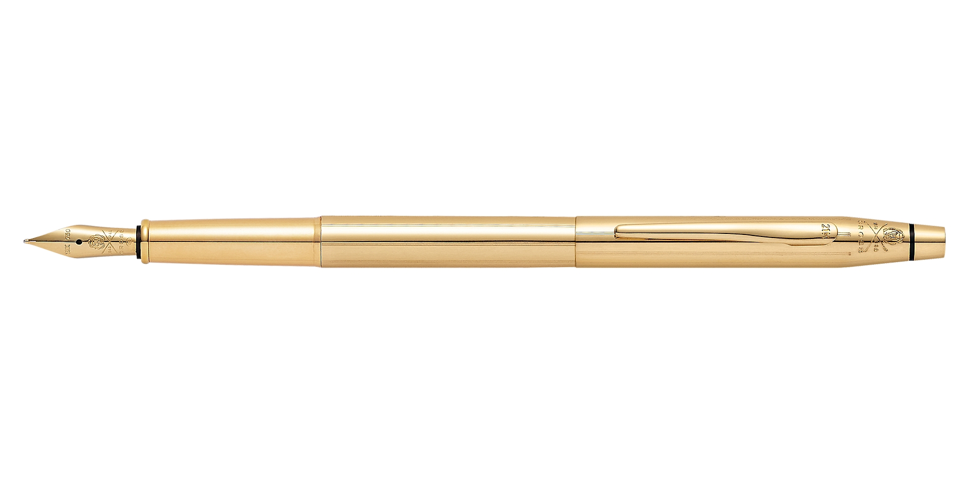 Cross 21st Century Limited-Edition 21Karat Solid-Gold Fountain Pen Picture