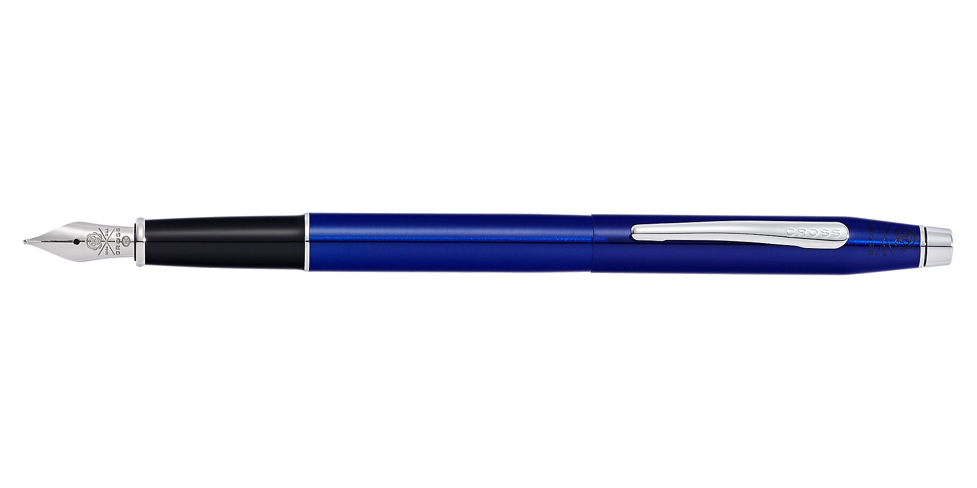 Cross Classic Century Translucent Blue Lacquer Fountain Pen Picture
