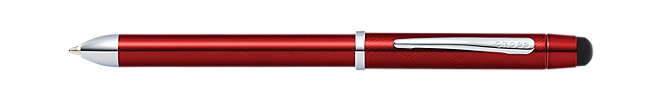 Tech3+ Engraved Translucent Red Multifunction Pen