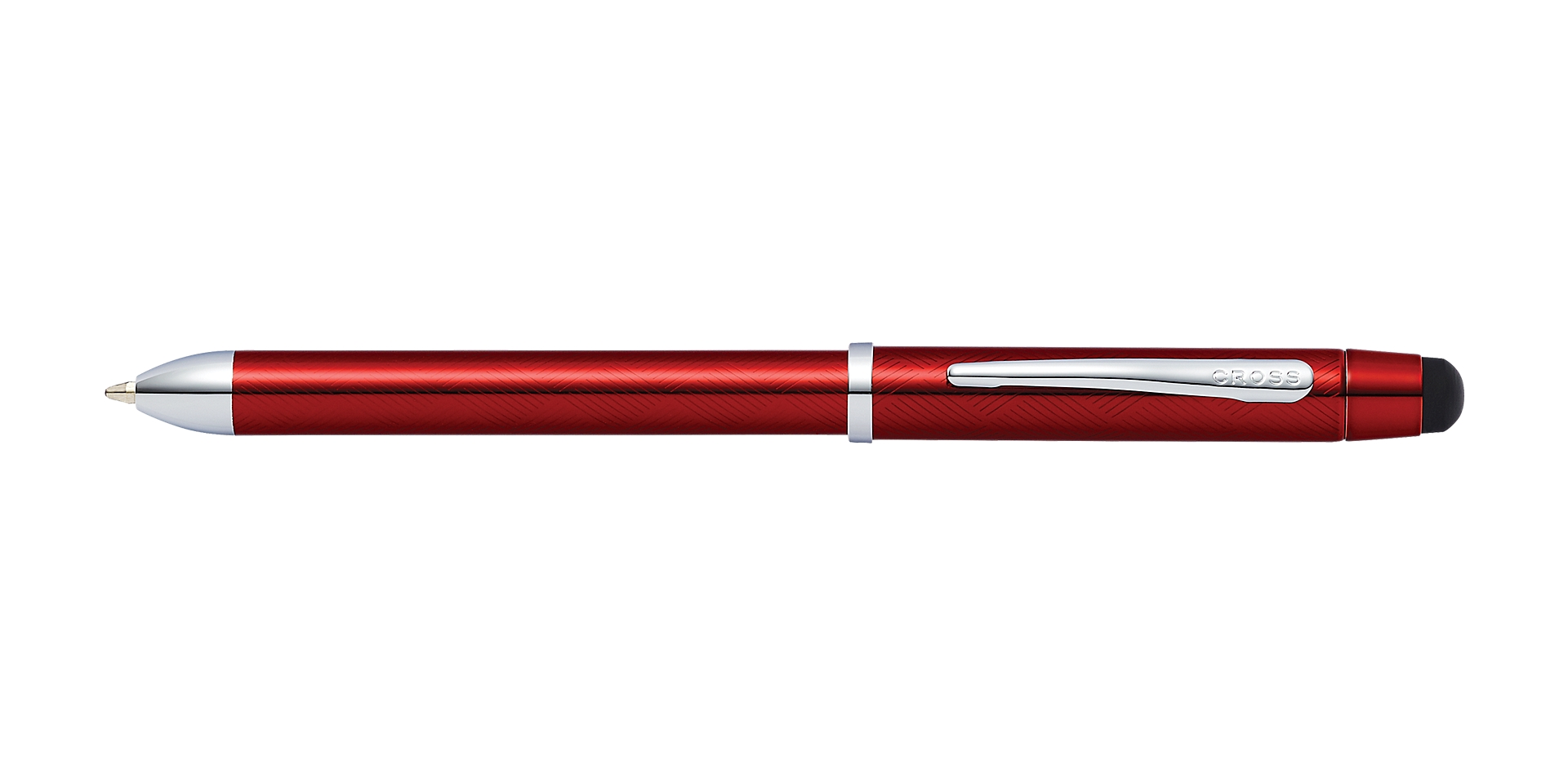 Cross Tech3+ Engraved Translucent Red Multifunction Pen Picture