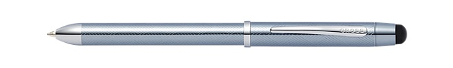Tech3+ Engraved Frosty Steel Multifunction Pen