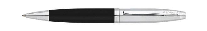 Calais Matte Black/Chrome Ballpoint Pen
