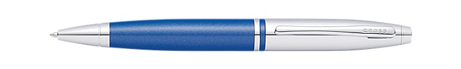 Calais Chrome and Blue Ballpoint Pen