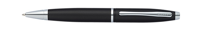 Calais Matte Black Ballpoint Pen with Two Bonus Refills