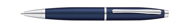 Calais Matte Metallic Midnight Blue Ballpoint Pen