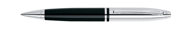 Calais Chrome/Black Ballpoint Pen