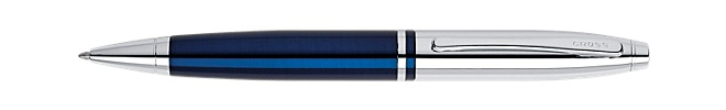 Calais Chrome/Stylo Bille Bleu