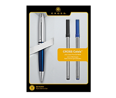 Cross Calais Lacquer Rollerball Pen with 2 Bonus Refills