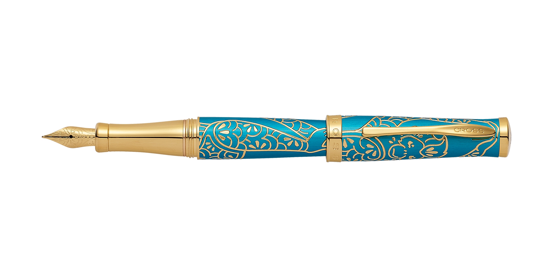 Cross Year of the Monkey Tibetan Teal Fountain Pen Picture