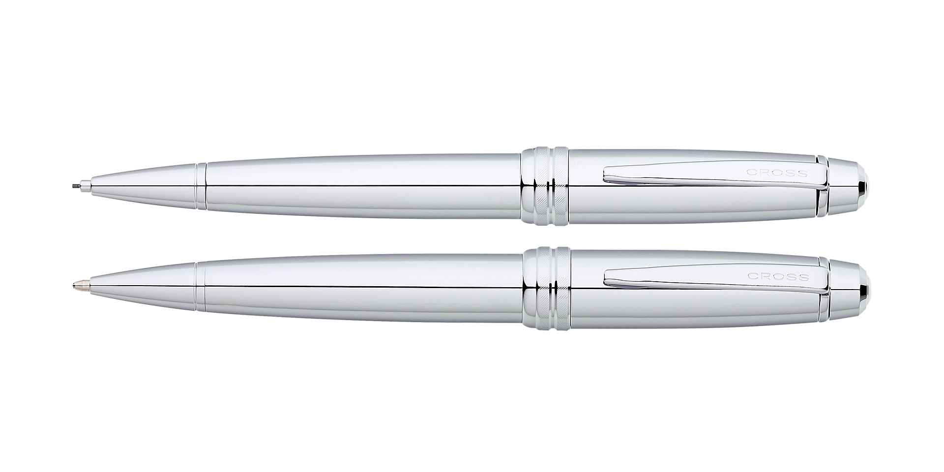 Cross Bailey Polished Chrome Ballpoint Pen and Pencil Set Picture