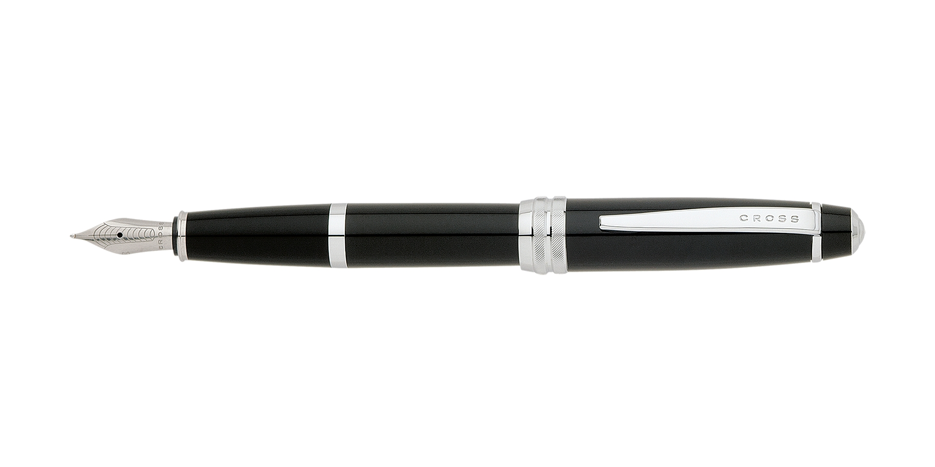 Cross Bailey Black Lacquer Fountain Pen with Medium stainless steel nib Picture