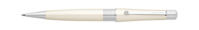 Beverly Pearlescent White Lacquer Ballpoint Pen