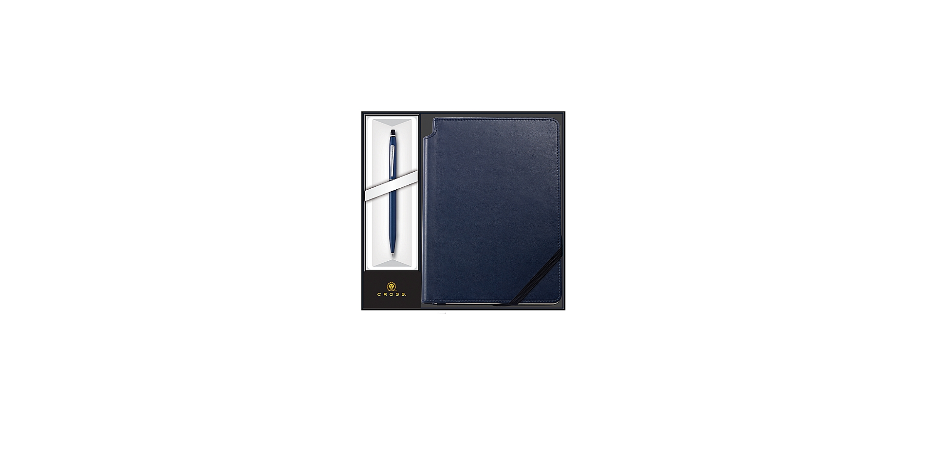 Cross Cross Click Midnight Blue Ballpoint Pen with Midnight Blue Journal  ... Picture