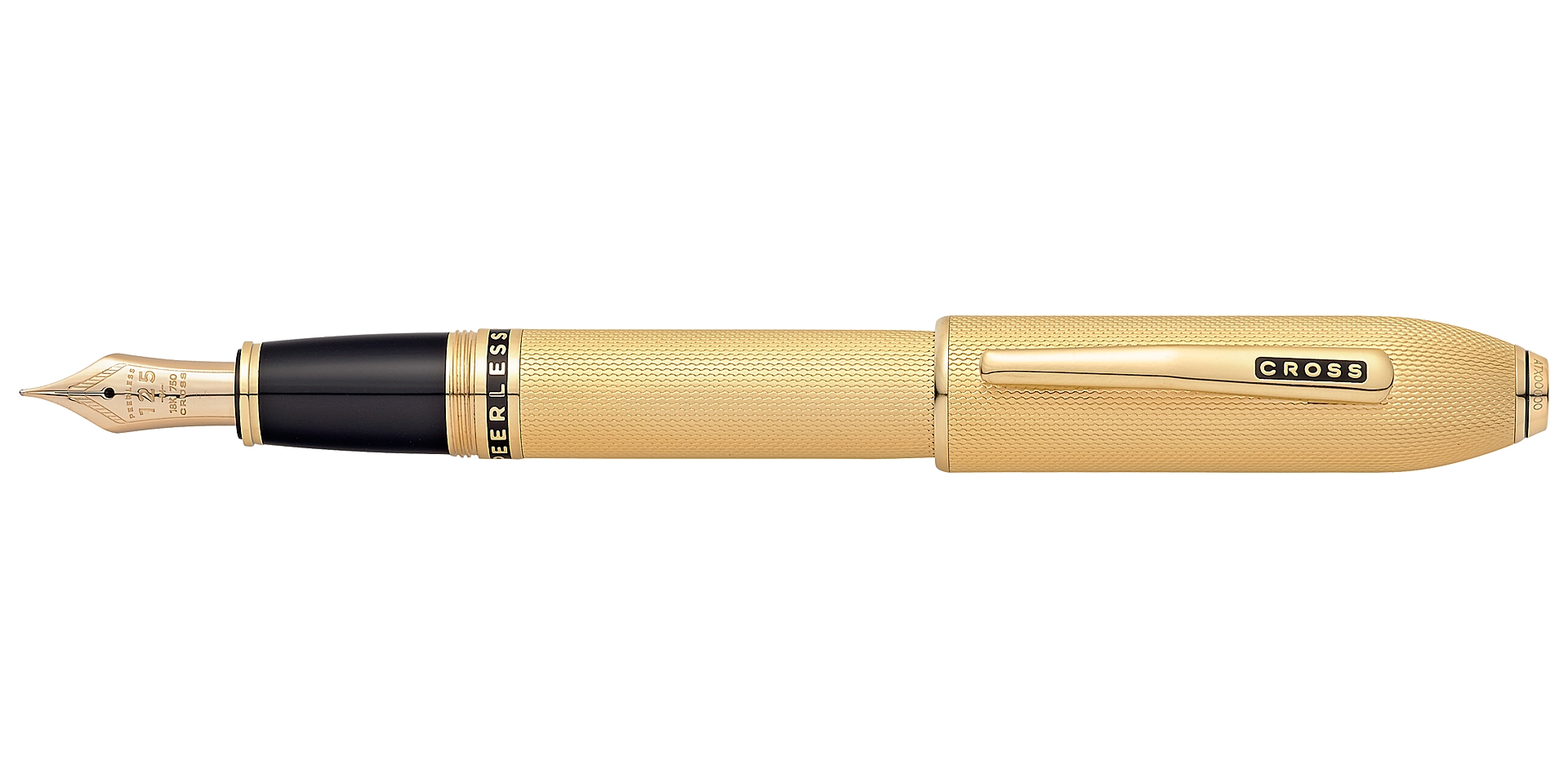 Cross Peerless 125 23 K Heavy Gold Plate Fountain Pen Picture
