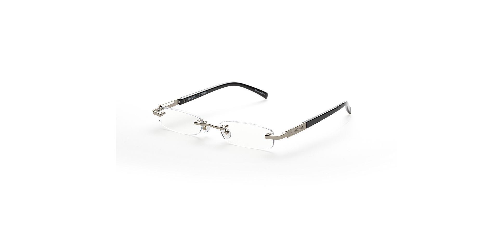 Cross Dickens - Silver-tone accents with glossy black temples Picture