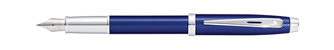 Sheaffer 100 Glossy Blue Lacquer Fountain Pen