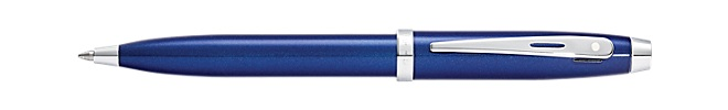 Sheaffer 100 Glossy Blue Lacquer Ballpoint Pen