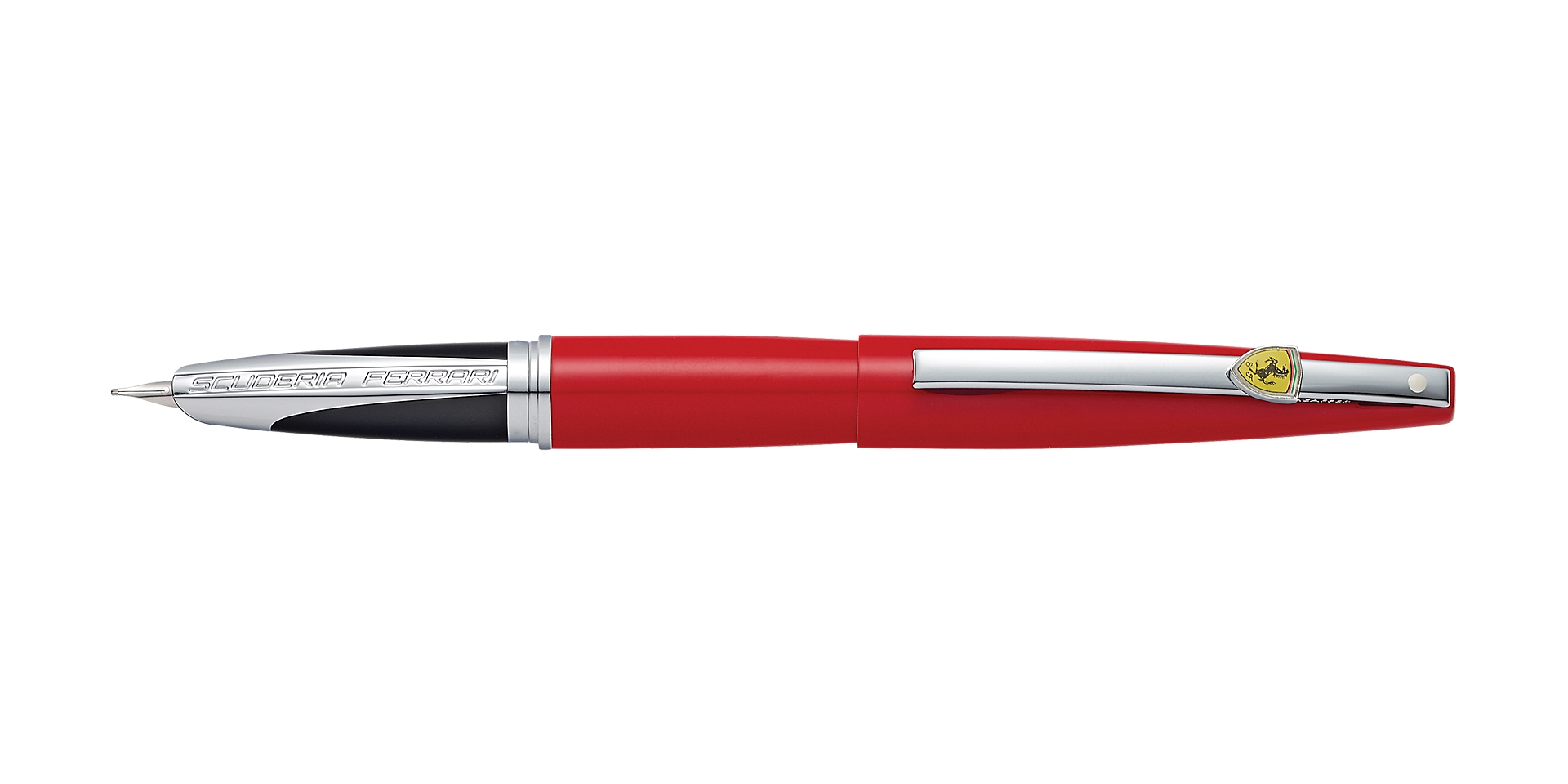 Cross Sheaffer® Ferrari Taranis Rosso Corsa Barrel and Cap Fountain Pen Picture