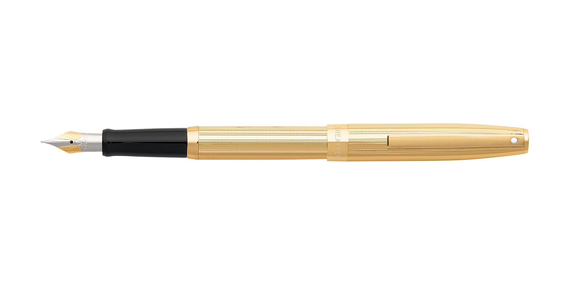 Cross Sheaffer® Sagaris® Fluted Gold Tone Barrel and Cap Fountain Pen Picture