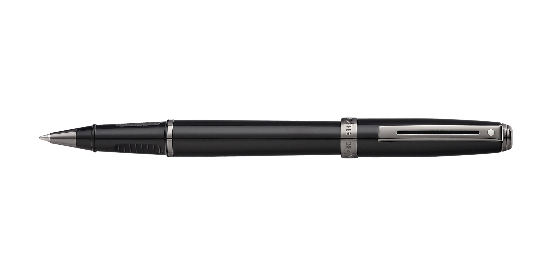 Cross Prelude Gloss Black Lacquer with Gun Metal Tone Trim Rollerball Pen Picture