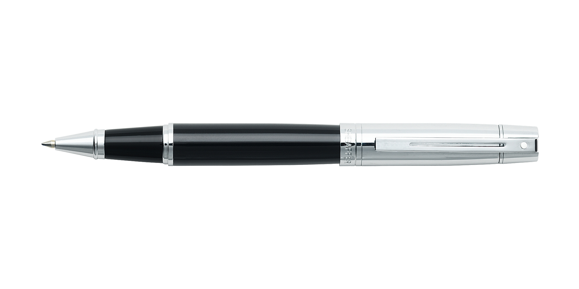 Sheaffer® 300 Glossy Black Barrel with Bright Chrome Cap Rollerball Pen