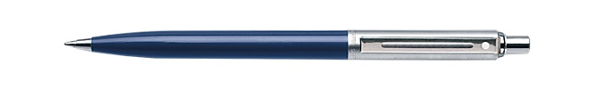 Sheaffer Sentinel Blue Barrel and Brushed Chrome Cap Ballpoint Pen