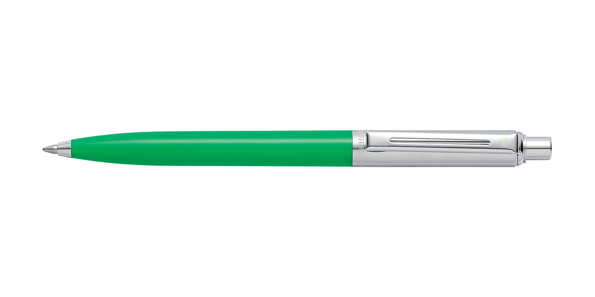 Cross Sheaffer Sentinel Bright Green Barrel and Brushed Chrome Cap  ... Picture