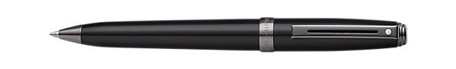 Prelude Gloss Black Lacquer with Gun Metal Tone Trim Ballpoint Pen