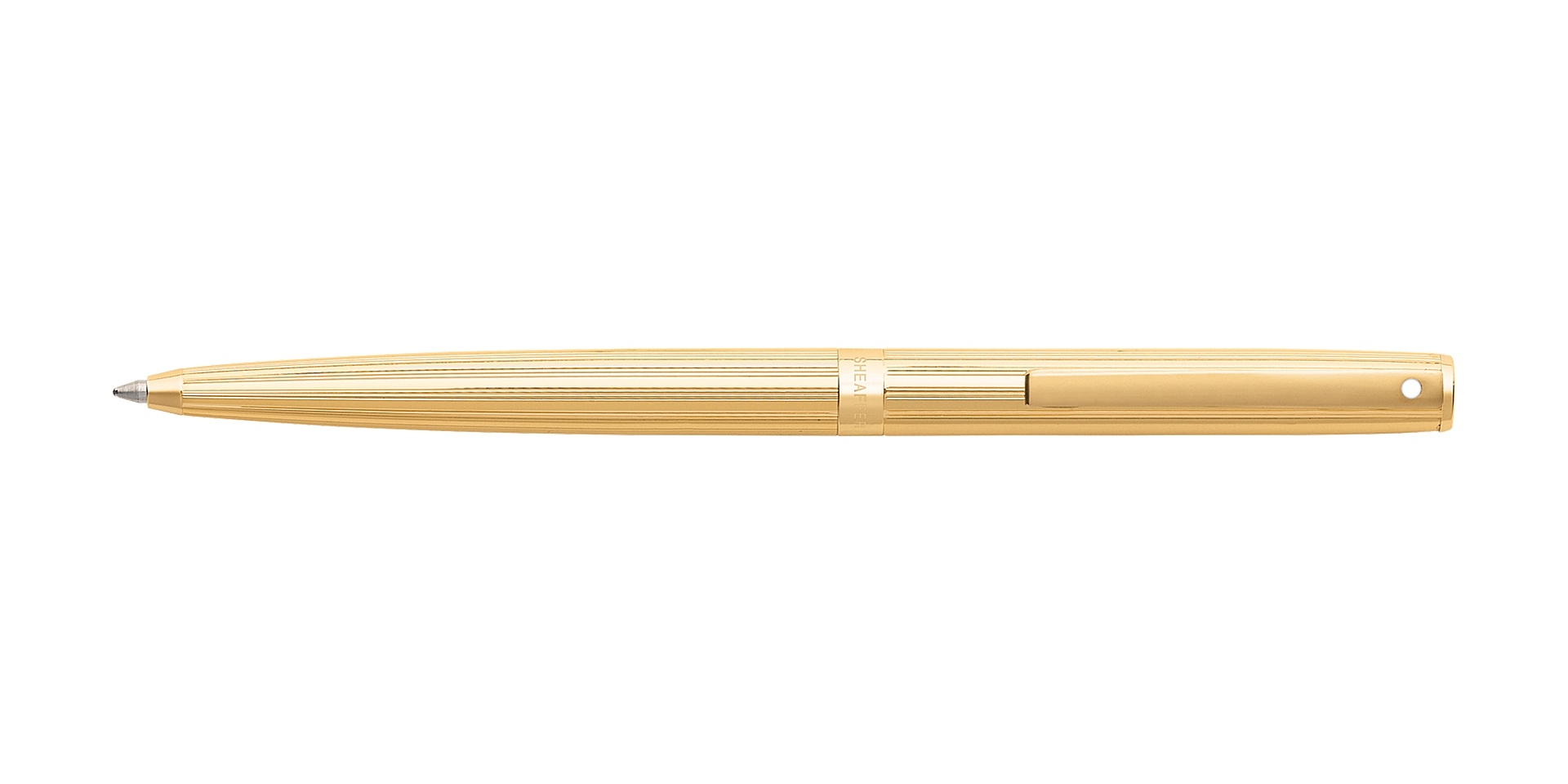 Cross Sheaffer® Sagaris® Fluted Gold Tone Barrel and Cap Ballpoint Pen Picture