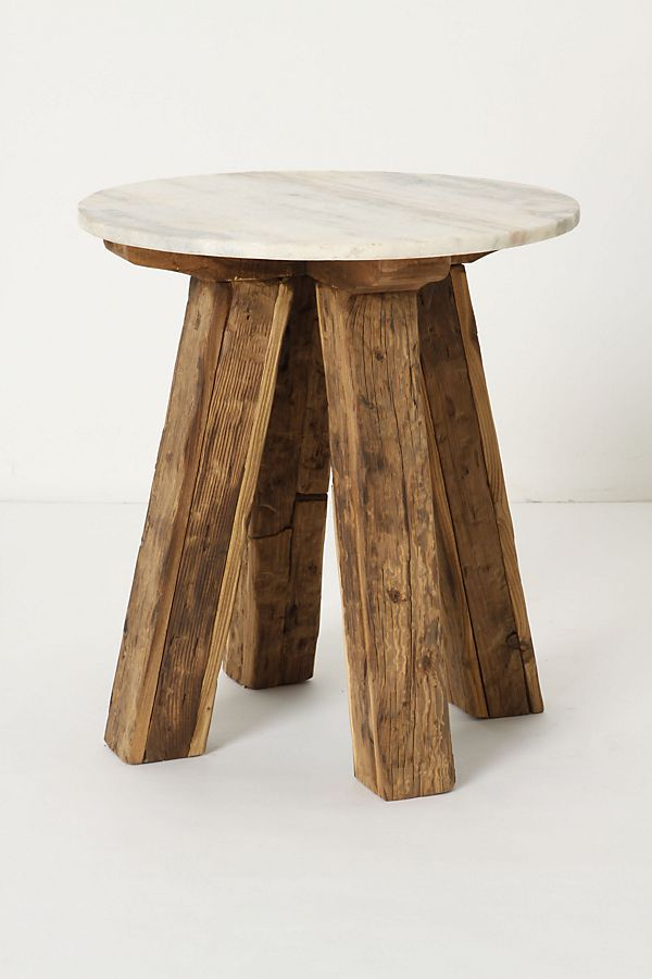 the best attitude ab55d 26705 Marble-Topped Side Table