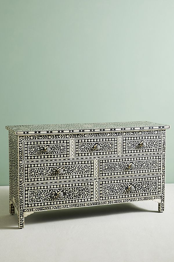 pretty nice 7c409 7cbb7 Bone Inlay Seven-Drawer Dresser