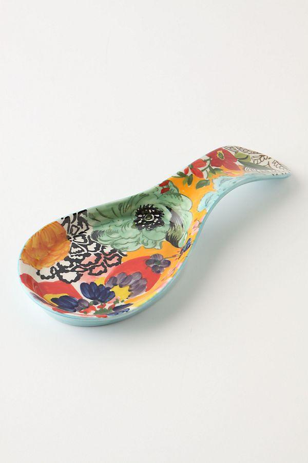 Painted Amaryllis Spoon Rest Anthropologie Uk
