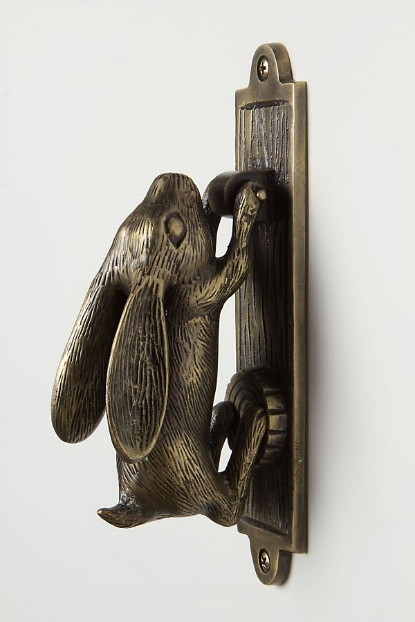 Slide View: 1: Swinging Hare Door Knocker