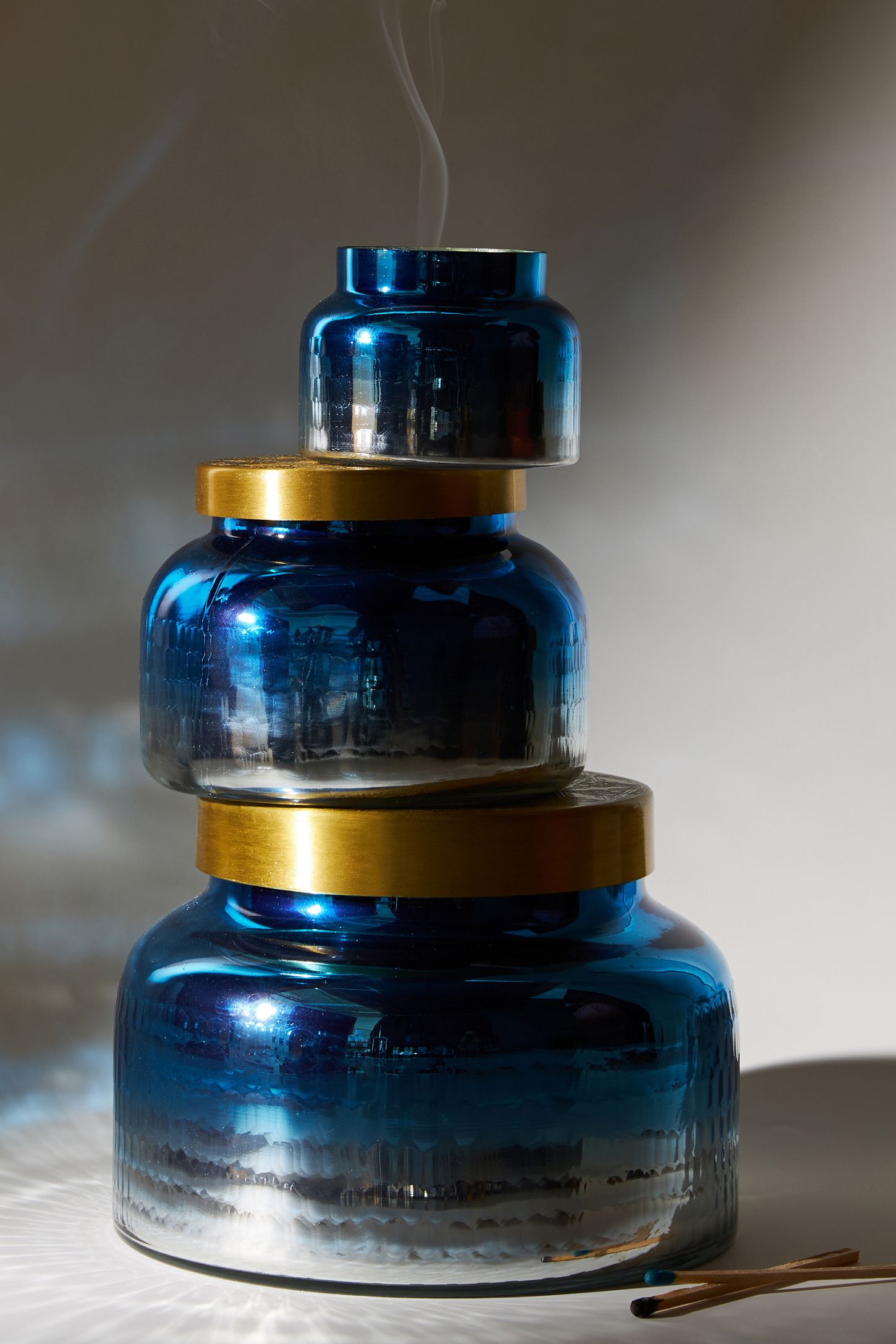 998e92a31ceead Giant Capri Blue Mercury Glass Candle | Anthropologie UK