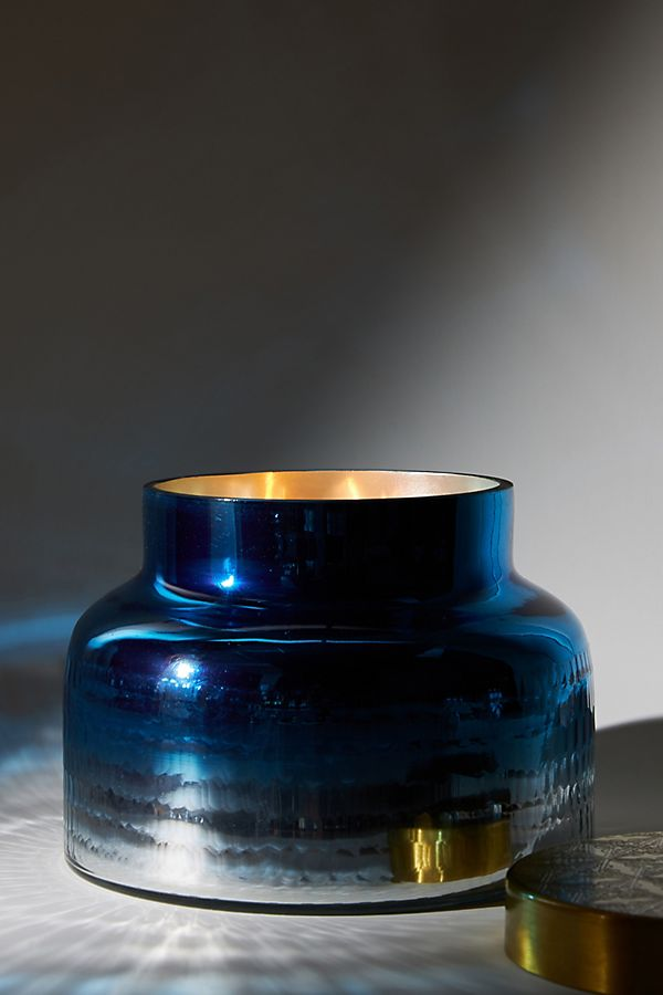 Slide View: 1: Capri Blue Giant Mercury Glass Candle