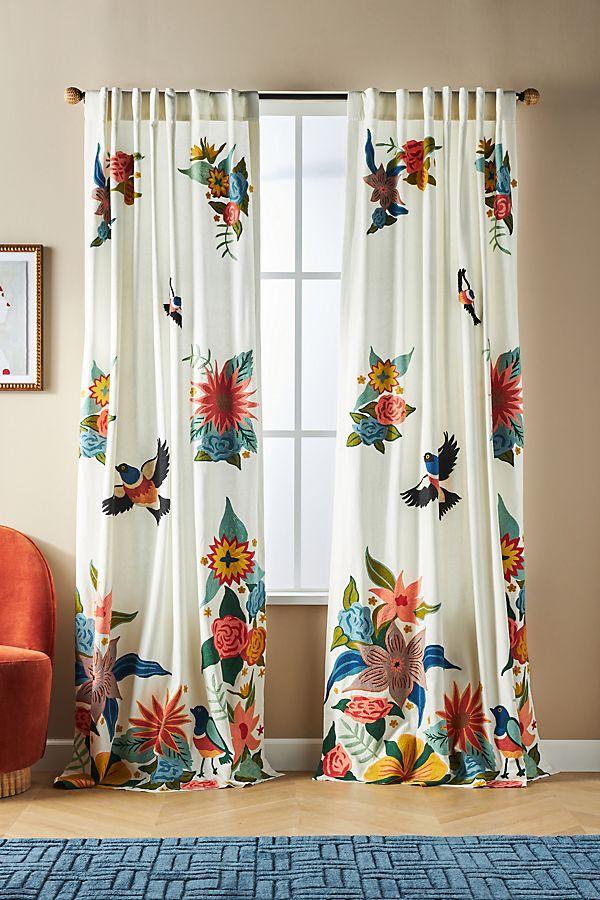 Slide View: 1: Soaring Starlings Curtain