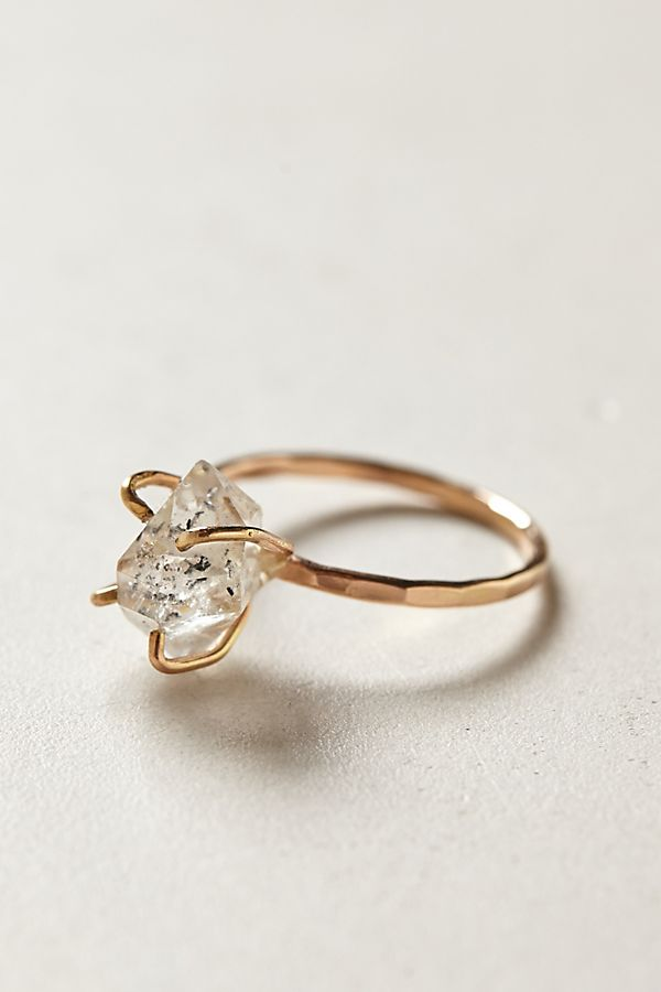 Herkimer Diamond Ring Anthropologie