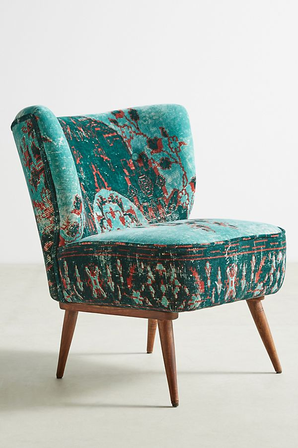 Dhurrie Petite Accent Chair Anthropologie