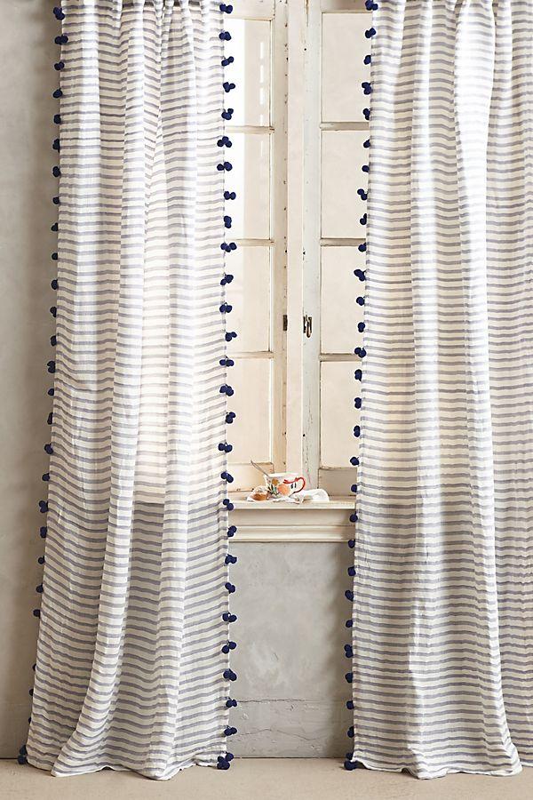 Slide View 1 Pom Tassel Curtain