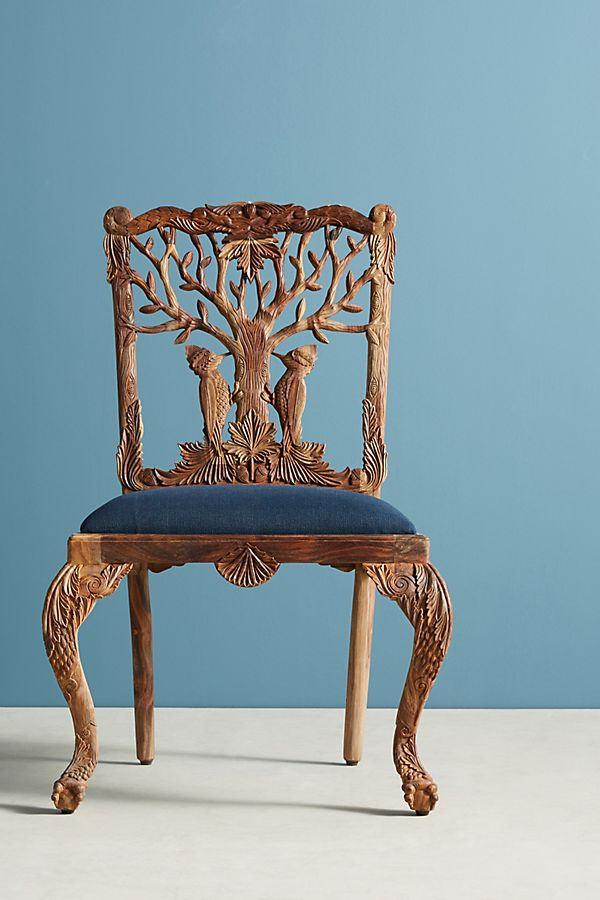 Miraculous Handcarved Menagerie Woodpecker Dining Chair Anthropologie Unemploymentrelief Wooden Chair Designs For Living Room Unemploymentrelieforg