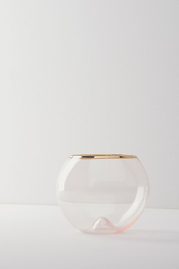 Slide View: 1: Gilded Rim Stemless Glass