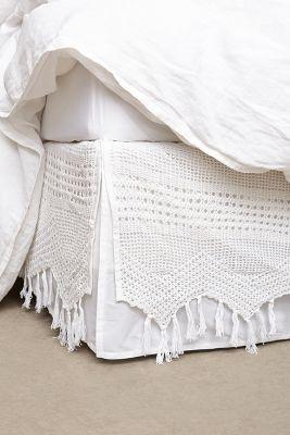 Fringe Crochet Bedskirt Anthropologie
