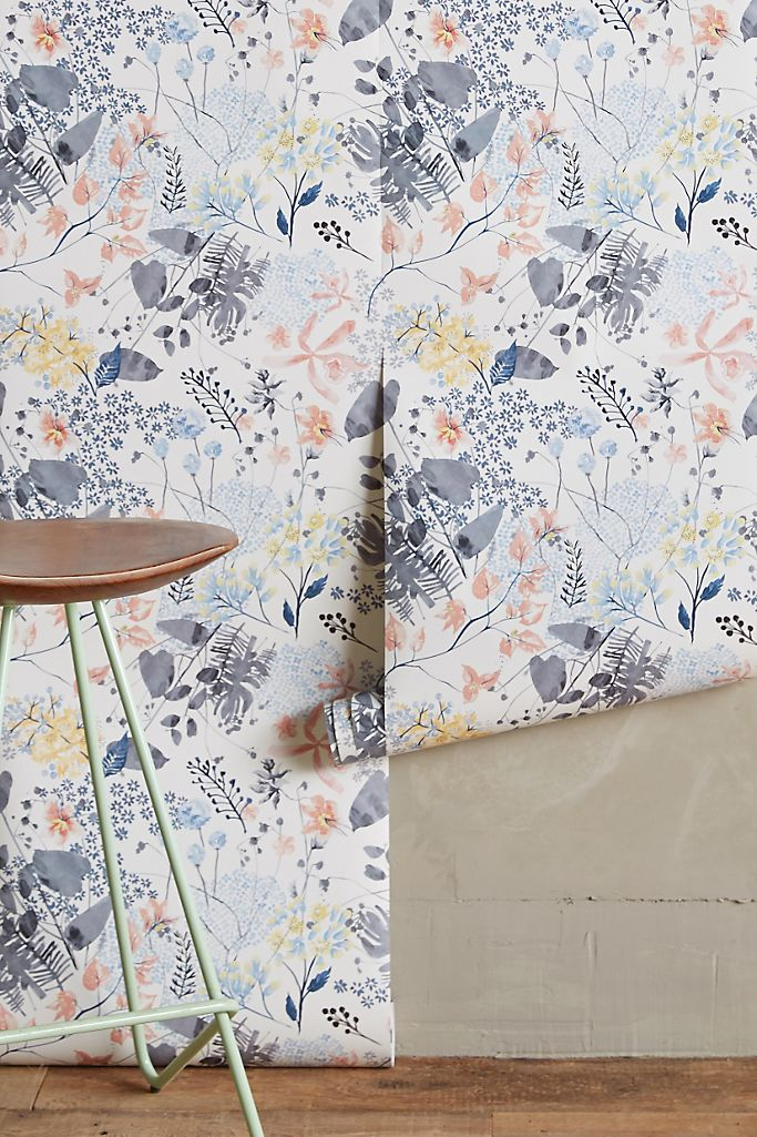 Anthropologie Rose Petals Wallpaper Anthropologie