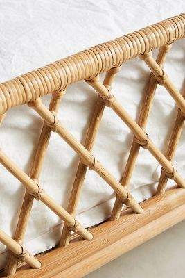 Curved Rattan Bed Anthropologie