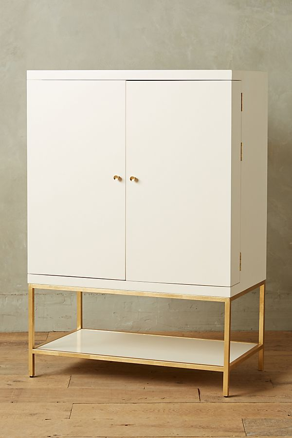 Slide View 1 Lacquered Bar Cabinet