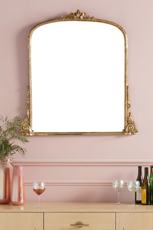 Gleaming Primrose Mirror. #frenchcountry #mirrors #gildedmirror #frenchmirror
